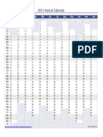 Annual Calendar Vertical