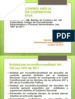 MEDIOS DE CONTROL ANTE LA JURISDICCIÓN CONTENCIOSA ADMINISTRATIVA