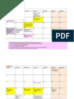 Fechas y Actividades Calendario 2013 Word 08 01 13