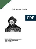 Constantin Mavrocordat Pag 1