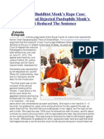 London Chief Buddhist Monk's Rape Case  Court Of Appeal Rejected Paedophile Monk's Argument, But Reduced The Sentence