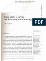INGOLD, T. André Leroi-Gourhan and the evolution of writing