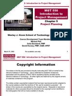 05 - Project Plannig