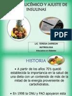 Indice Glucemico y Ajuste de Insulinas
