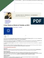 O Que Mudou Em 2012 No Direito Do Trabalho