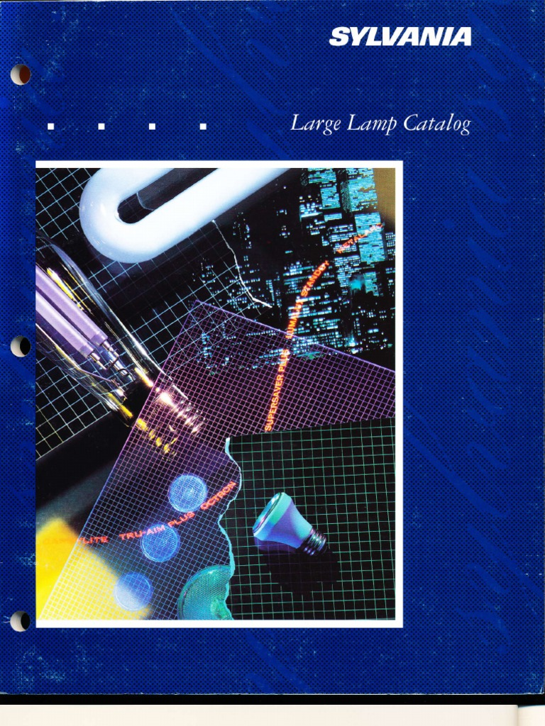 sylvania 1992 large lamp catalog lighting fluorescent lamp