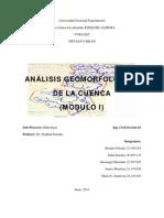Análisis Geomorfológico de la cuenca