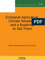 Ecological agriculture, c limate resilience and the road to get there
