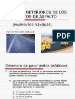 Fallas o Deterioros de Los Pavimentos de Asfalto