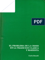 Bennetti Crisis in Classical and Marxian Theory