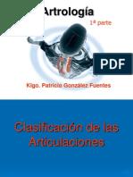 Artrología 1ª parte - Clasificación de las Articulaciones