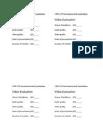 Video Evaluation