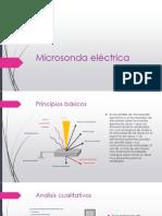 Microsonda eléctrica exponer analisis instrumental