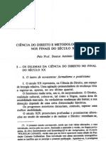 Canaris - Ciência do Direito e Metodologia Juridica no final do sec XX