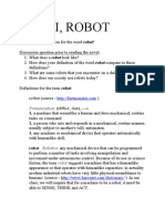 I Robot DiscussionQuestions