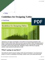 Designing Data Tables