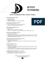 ACE Seven Wonders