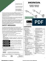 Honda HTT25S Manual