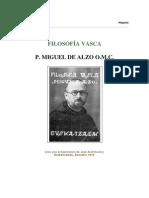 Alzo Miguel de - Filosofia Vasca