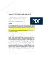 Afzal Et Al . 2000. Temperature-Programmed Reduction of Metal-Exchanged Zeolite-A Catalysts