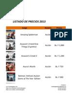 Catálogo de Juegos - Tuvideogame