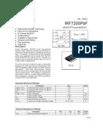 irf7205pbf datasheet mosfet