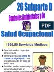 Subparte D Controles Ambientales y Salud Ocupacional