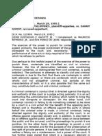 Jurisprudence Contempt Proceedings