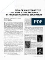 Application of an Interactive Ode Simulation Program