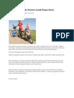 Pendayung Sepeda Prairies Untuk Papua Barat