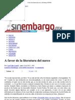A favor de la literatura...co _ SinEmbargo OPINIÓN