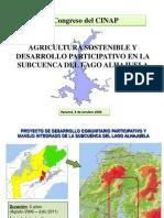 Agricultura Sostenible y Desarrollo Participativo  en la Subcuenca del Lago Alhajuela . Ing. Isao Sakai , Eric Rodríguez . JICA-ANAM