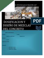 DISEÑO DE MEZCLAS DE CONCRETO Y DOSIFICACION DE LOS MATERIALES