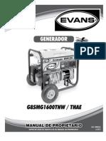 Manual de Operacion de Generador Electrico Evans
