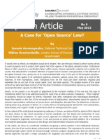 A Case for 'Open Source' Law?