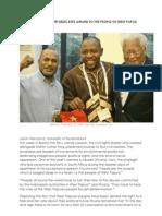 Anti-Apartheid Leader Dedicates Award to the People of West Papua