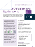 MYOB Biometric Reader Fact Sheet