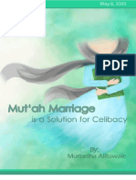 Mut'ah Marriage is a Solution for Celibacy