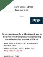 Pressure Vessel Stress Calculations