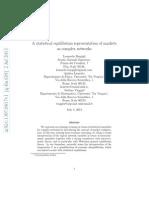 Leonardo Bargigli, Andrea Lionetto, Stefano Viaggiu - A Statistical Equilibrium Representation of Markets as Complex Networks (ArXiv, July 2013, 4th)
