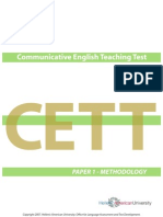 2007 Cett Paper 1 Methodology