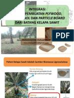 Integrasi Proses Produksi Plywood, Bioethanol Dan Particle Board Dari Batang Kelapa Sawit (Public Version)