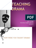 Week 8 Teaching Drama