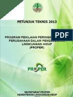 Buku Petujuk Teknis PROPER 2013