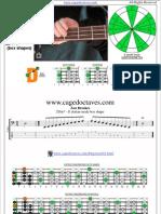 DCAGE4BASS D dorian mode box shapes for 4-string bass