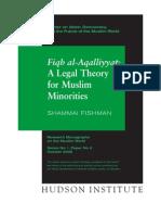 Fiqh al-Aqalliyat A Legal Theory for Muslim Minorities
