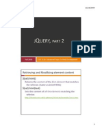 12 jQuery, Student Version