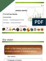 EABL F11 Investor Presentation