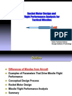 Rocket Motor Design and Missile Flight Performance Analysis