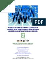 Catalogo Cursos educacion, trabajo social, integracion social, animacion sociocultural